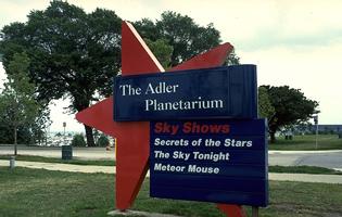 Adler Planetarium Signage