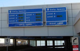 DFW Parking Garage Signage