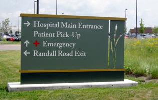 Sherman Hospital Signage