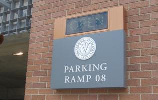 Valparaiso University Parking Signage